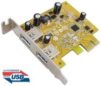 Sunix USB 3.0 Dual ports PCI Express Low Profile Host Controller Photo