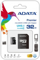 ADATA Premier 32GB MicroSDHC UHS-I U1 Class10 Memory Card Adapter Photo