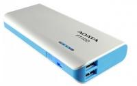 Adata PT100 10000 mAh Power Bank - White & Blue Photo