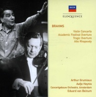 Brahms / Grumiaux / Concertgebow Orch / Van Beinum - Brahms: Vln Cto / Overtures / Alto Rhapsody Photo