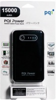 PQI 15 000 mAh Dual USB Power Bank - Black Photo