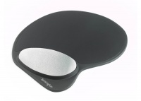 Kensington Memory Gel Mouse Pad with Integral Wrist Rest - Black Photo