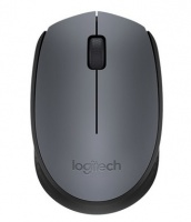 Logitech - M170 Cordless Notebook Mouse - Black and Silver Photo
