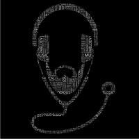 Doctor Dj Mens T-Shirt Black Photo