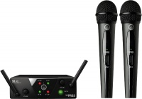 AKG WMS40 Mini Dual Vocal Set Wireless Handheld Microphone System – ISM2 and ISM3 Frequency Photo