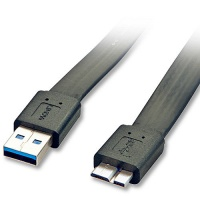 Lindy 2m USB 3.0 Flat A M to Micro-B Cable Photo