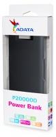 ADATA - P20000D Dual USB Powerbank - Black Photo