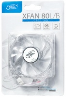 DeepCool XFAN 80 L/B Transparent Case Fan - Blue LED Photo
