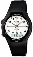 Casio Retro AW-90H Analog and Digital Watch - Black and Blue Photo