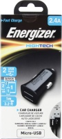 Energizer 2 Port Micro-USB 2.4 AMP Car Charger - Black Photo