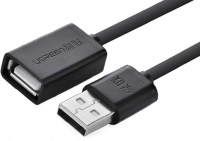 Ugreen 2m USB Type-A Male to USB Type-A Female USB 2.0 Extension Cable - Black Photo