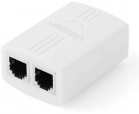 Ugreen RJ11 Network Connector - White Photo