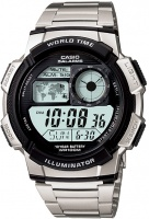 Casio World Time 100m Digital Watch - Silver and Black Photo