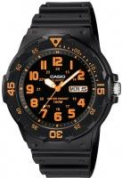 Casio Standard Collection 100m WR Analog Watch - Black and Orange Photo