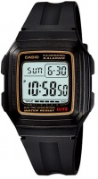 Casio Standard Collection WR Digital Watch - Black and Gold Photo