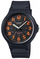 Casio Standard Collection 50m WR Analog Watch - Black and Orange Photo
