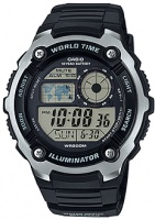 Casio Standard Collection 10 Year Battery 200m WR Digital Watch - Black and Silver Photo
