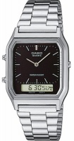 Casio Retro WR Analog and Digital Watch - Silver and White Photo