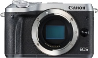 Canon EOS M6 Mirrorless Digital Camera Body - Black and Silver Photo