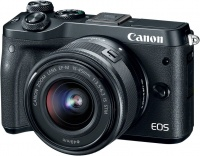 Canon EOS M6 Mirrorless Digital Camera Kit with EF-M 15-45mm 3.5-6.3 IS STM Lens - Black Photo