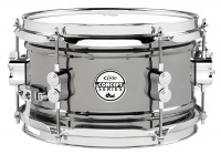 "PDP PDSN0610BNCR Concept Series 6 x 10"" Black Nickel over Steel Snare Drum with Chrome Hardware Photo"