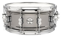 "PDP PDSN6514BNCR Concept Series 6.5 x 14"" Black Nickel over Steel Snare Drum with Chrome Hardware Photo"