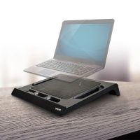 Port Designs Port Connect - Laptop Cooling Stand With Fan - USB - Black Photo