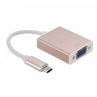 Tuff Luv Tuff-Luv USB 3.1 Type-C to VGA Multi-Display Adapter Cable - Rose Gold Photo