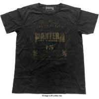 Pantera 101% Proof Vintage Mens Black T-Shirt Photo