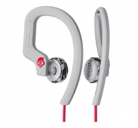 Skullcandy Chops Flex In-Ear Headphones with Mic - Grey and Red Photo
