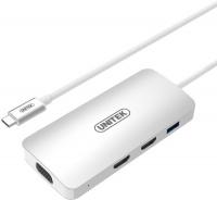 Unitek USB3.1 Type-C Aluminium Multi-Port Hub with Power Delivery - Silver Photo