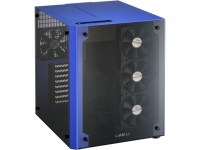 Lian Li Lian-Li PC-O8W Cube Mid-Tower Chassis - Black and Blue Photo