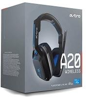 Logitech ASTRO GAMING - A20 Wireless Headset - Grey/Blue Photo