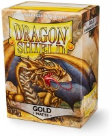 Arcane Tinmen Dragon Shield - Standard Sleeves - Matte Gold Photo