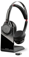 Plantronics Voyager Focus UC - Stereo Bluetooth Headset With Active Noise Cancelling System Base Photo