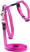 Rogz - Catz 8mm Extra Small AlleyCat Reflective Breakaway Safeloc Buckle Cat H-Harness and Lead Combination Photo