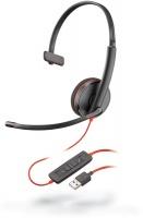 Plantronics Blackwire C3210 USB Corded Headset - Black Photo