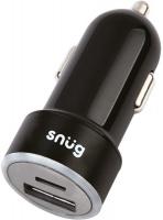 Snug Car Juice PD Dual USB Car Charger - Black Photo