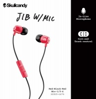 Skullcandy JIB In-Ear Headphones Earbuds with Microphone - Red/Black Photo