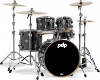 PDP New Yorker 4 pieces Acoustic Drum Kit - Onyx Sparkle Including Hardware Pack Photo