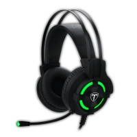 T Dagger T-Dagger Andes Green Lighting Gaming Headset - Black/Green Photo