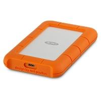LaCie Seagate Rugged USB-C External Hard Drive 4TB Orange & Silver Photo