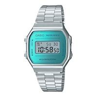 Casio Retro Series Digital Wrist Watch - Silver and Blue Photo