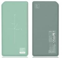 Remax Proda Chicon 10000mAH Wireless Power Bank - Green and Black Photo