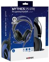 Konix - Mythics PS-U700 7.1 Gaming Headset USB - Black/Blue Photo