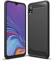 Tuff-Luv Brushed Carbon Fiber Style TPU Protective Shockproof Back Cover Case for Huawei P20 - Black Photo