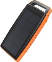 RAVPower - 15000mAh 2x USB IP66 Solar Power Bank - Black/Orange Photo