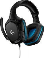 Logitech - G432 7.1 Gaming Headset - Black/Blue Photo