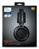 Philips Fidelio X2HR High Resolution Headphones with Sound Isolation and Velvet Cushions - Black Photo