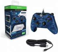 PDP Deluxe Wired Controller - Blue Camouflage Photo